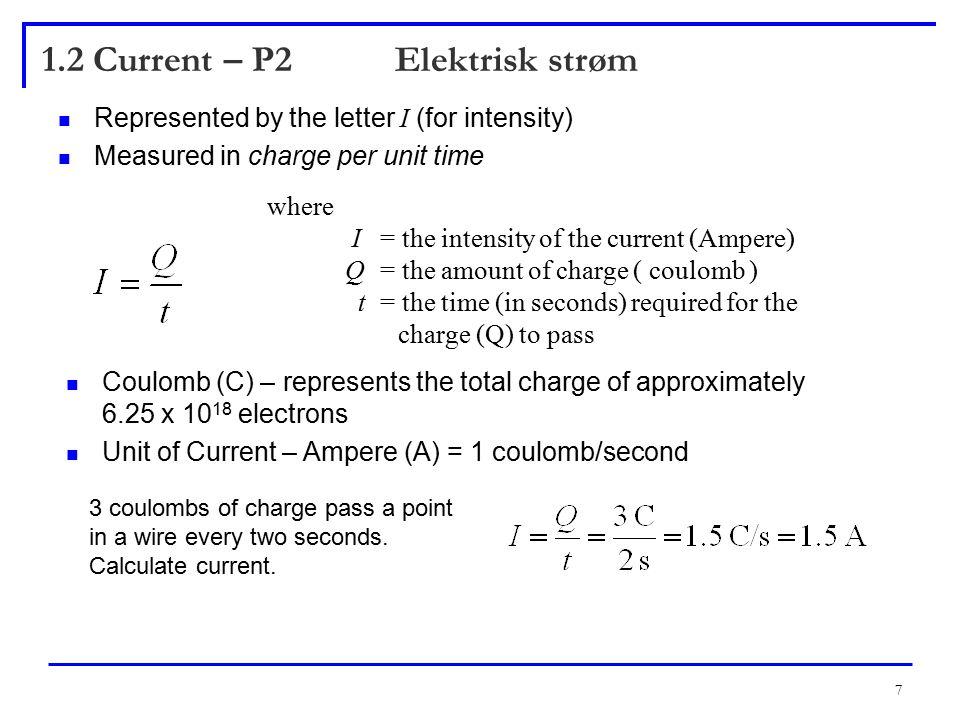 8 1.2 Current – P4 Electron Flow Versus Conventional Current Insert Figure 1.10