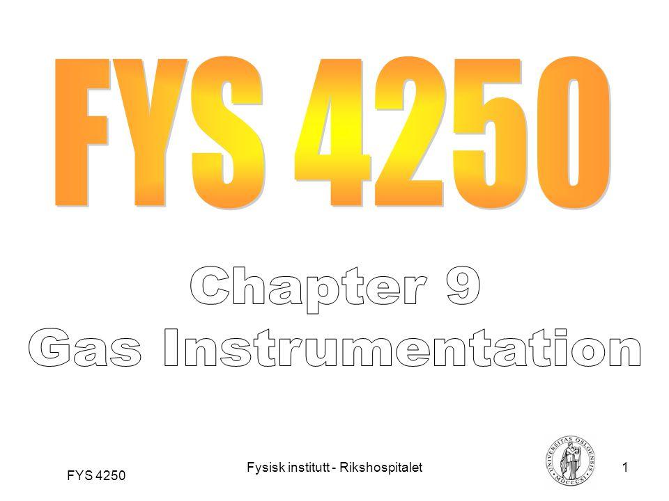 Fysisk institutt - Rikshospitalet22 FYS 4250 Figure 16 Paramagnetic oxygen analyzer using pulsed magnetic field.