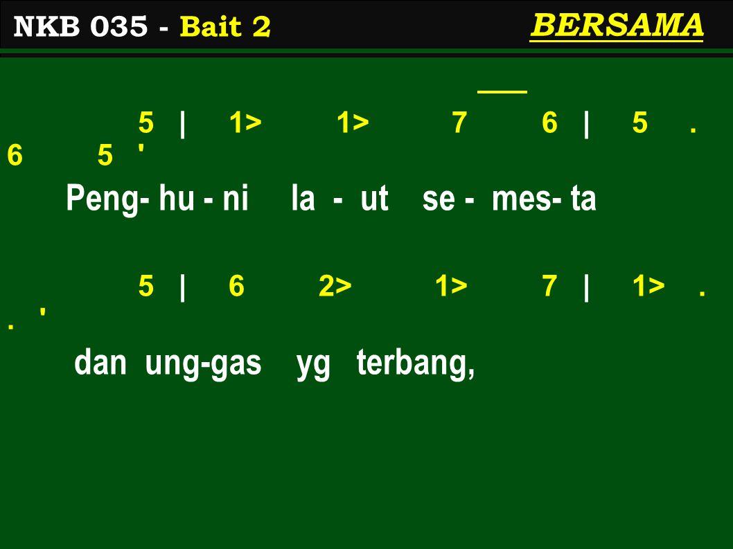 5 | 1> 1> 7 6 | 5. 6 5 Peng- hu - ni la - ut se - mes- ta 5 | 6 2> 1> 7 | 1>..