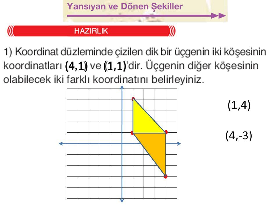 (4,1)(1,1) (4,-3) (1,4)