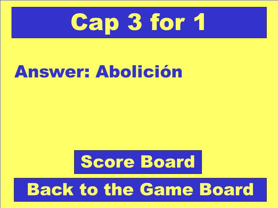 Question: Sinónimo de eliminación. Check Your Answer Cap 3 for 1