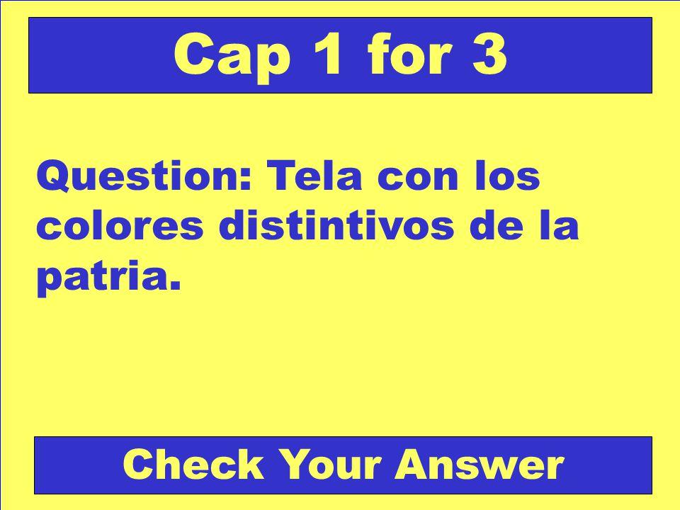 Answer ALMIRANTE Back to the Game Board Capitulo 1 for 2 Score Board