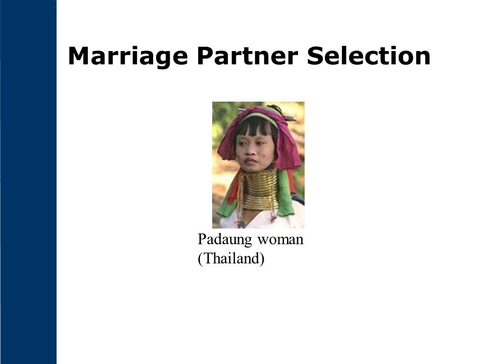 Marriage Partner Selection Padaung woman (Thailand)