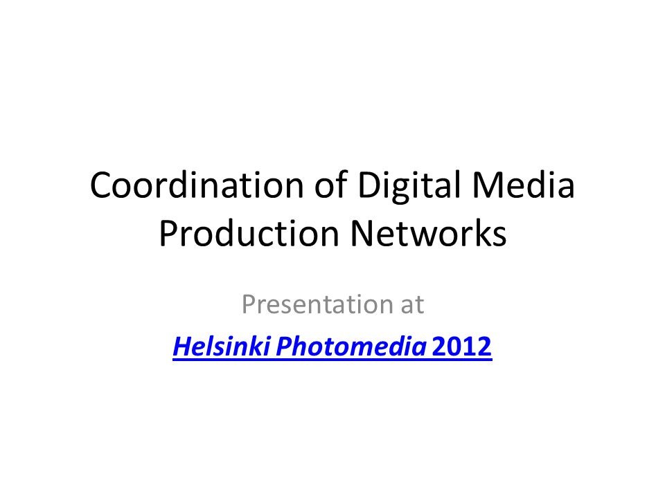 Local production community Core in web, movie and sound production Embedded in media, culture and PR/advert sector 4-5000 persons 4-500 persons