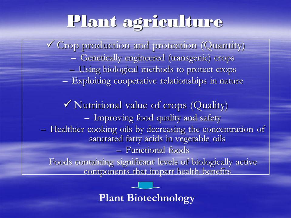 PLANT BIOTECHNOLOGY.