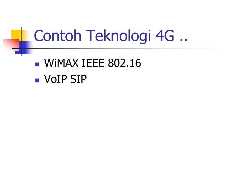 Contoh Teknologi 4G.. WiMAX IEEE 802.16 VoIP SIP