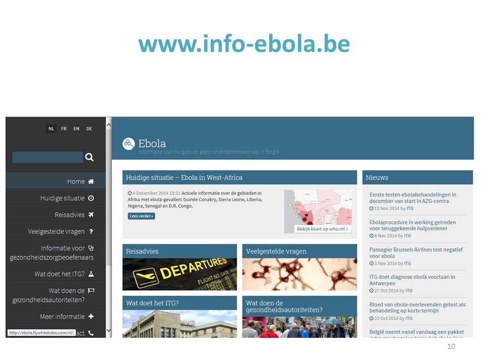 10 www.info-ebola.be