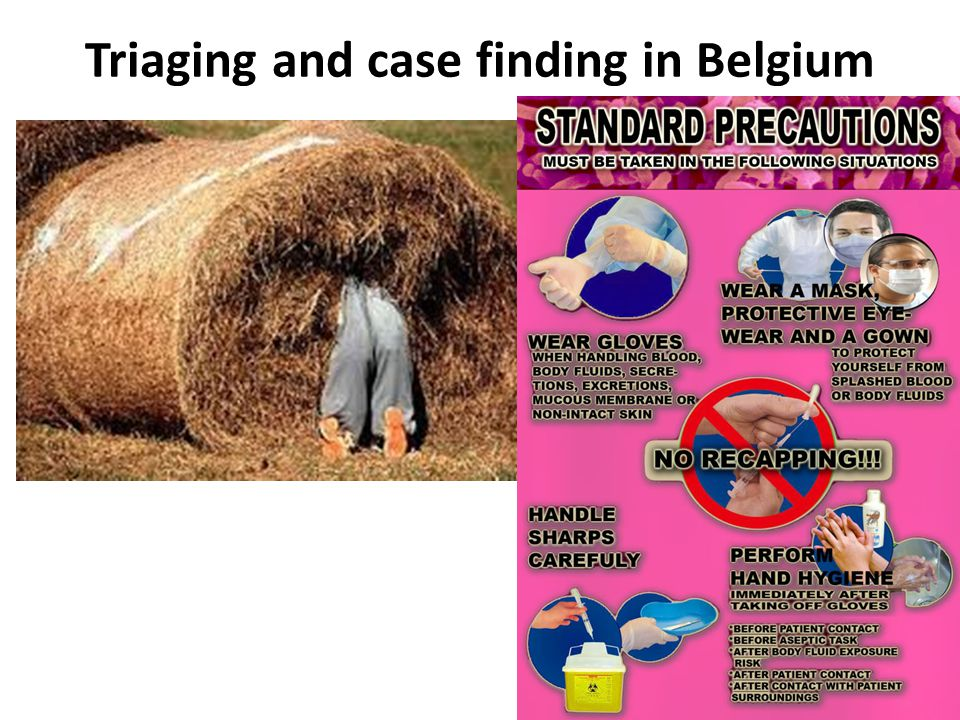 Triaging and case finding in Belgium