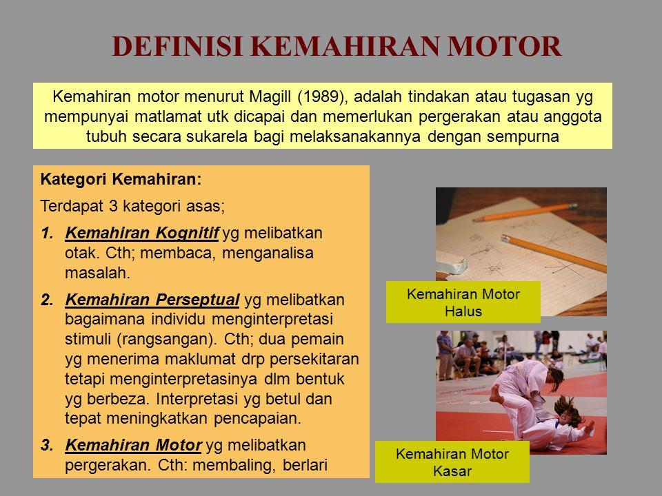 MODEL-MODEL TAHAP PEMEROLEHAN KEMAHIRAN MOTOR  MODEL TIGA TAHAP Fitts & Posner`s, (1967)  MODEL DUA TAHAP Adams, (1971)  MODEL DUA TAHAP Gentile, (1972)