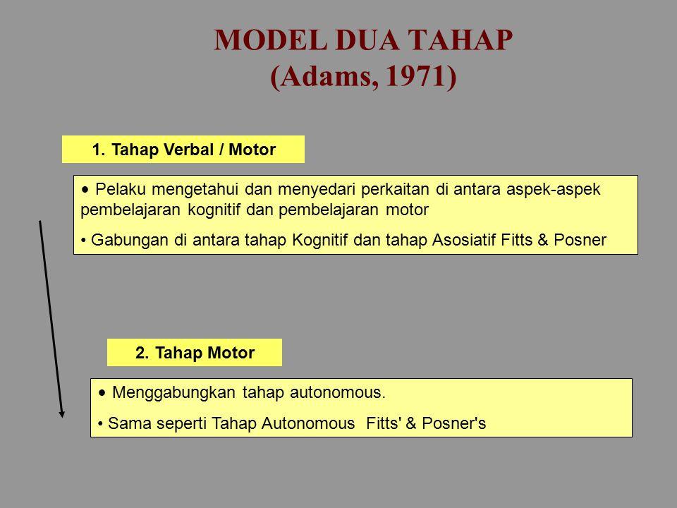MODEL DUA TAHAP (Gentile, 1972) 1.