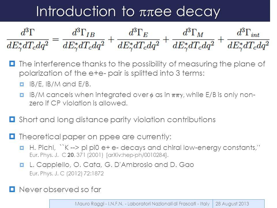 Errors summary table 28 August 2013Mauro Raggi - I.N.F.N.