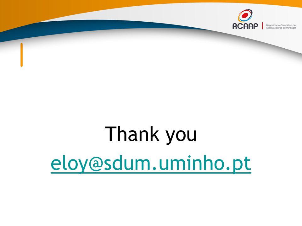Thank you eloy@sdum.uminho.pt