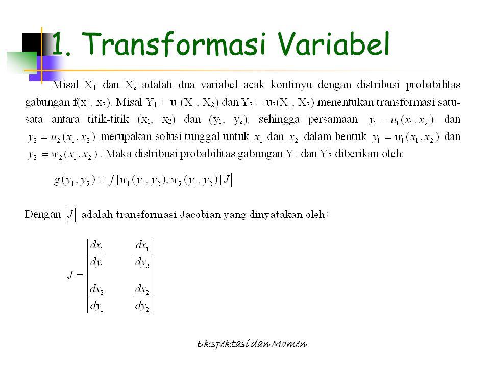 Ekspektasi dan Momen 1. Transformasi Variabel