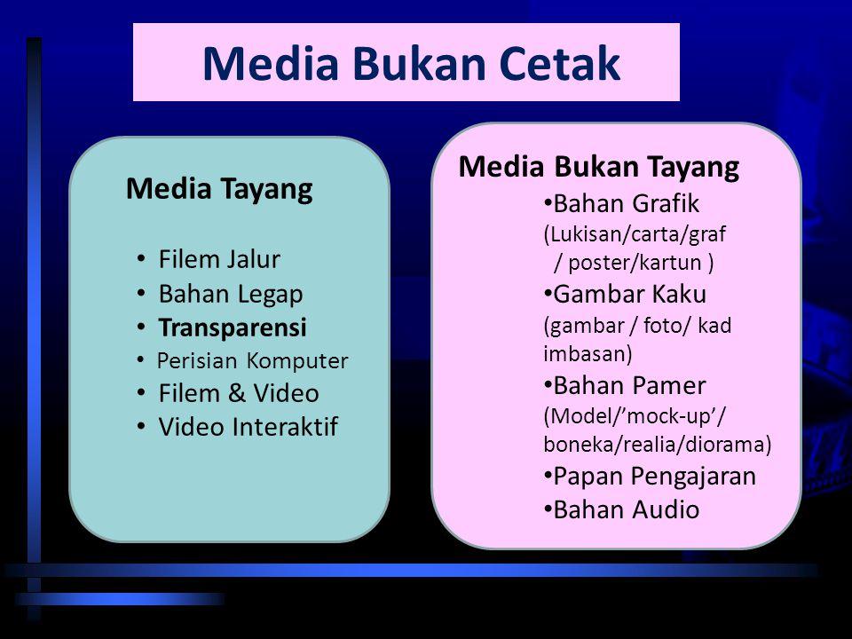 Nota Haz KDP OUM 2007 Klasifikasi Media Pengajaran MEDIA PENGAJARAN Media Cetak MEDIA BUKAN CETAK MEDIA BUKAN TAYANG Media Tayang