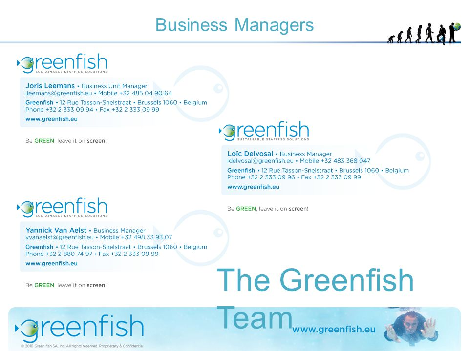 Business Managers The Greenfish Team