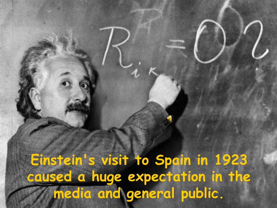 Einstein's visit to Spain in 1923 caused a huge expectation in the media and general public.