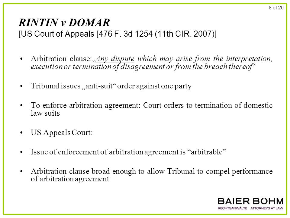 RINTIN v DOMAR [US Court of Appeals [476 F. 3d 1254 (11th CIR.