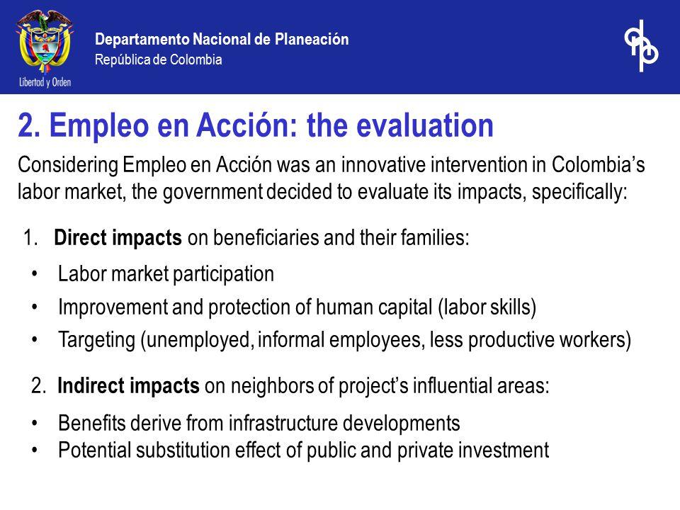 Departamento Nacional de Planeación República de Colombia 2.