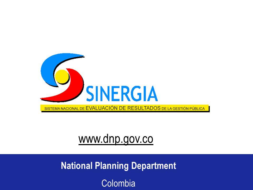 Departamento Nacional de Planeación República de Colombia National Planning Department Colombia www.dnp.gov.co