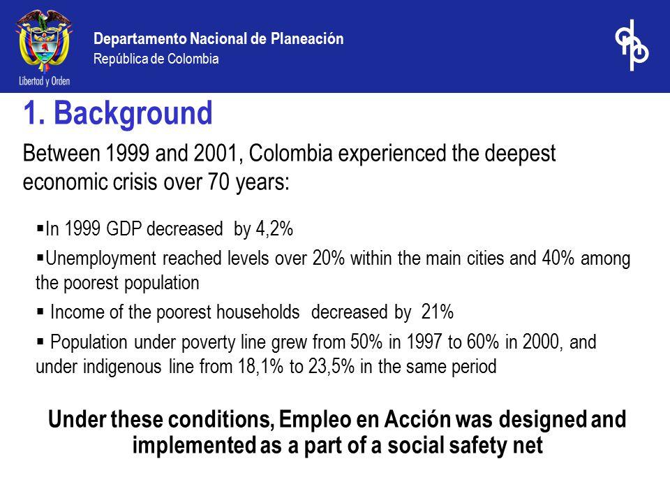 Departamento Nacional de Planeación República de Colombia 1.