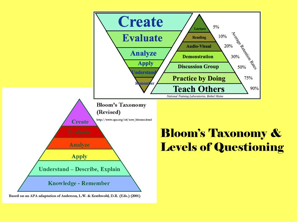 Bloom's Taxonomy & Levels of Questioning