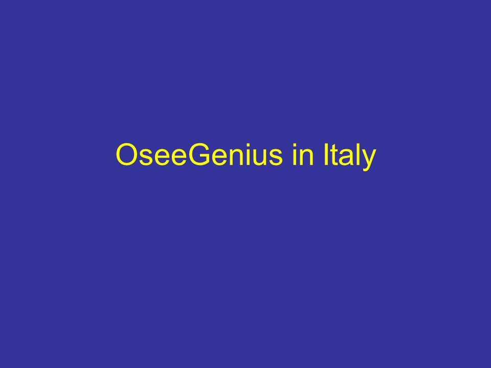 OseeGenius in Italy