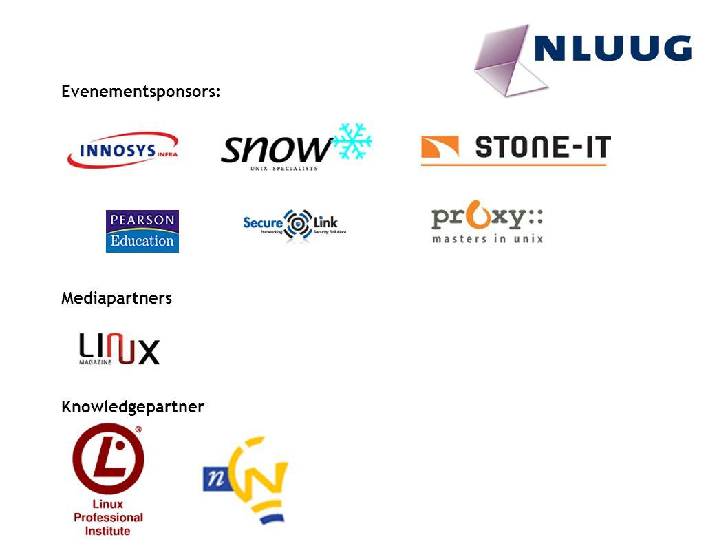 Evenementsponsors: Mediapartners Knowledgepartner