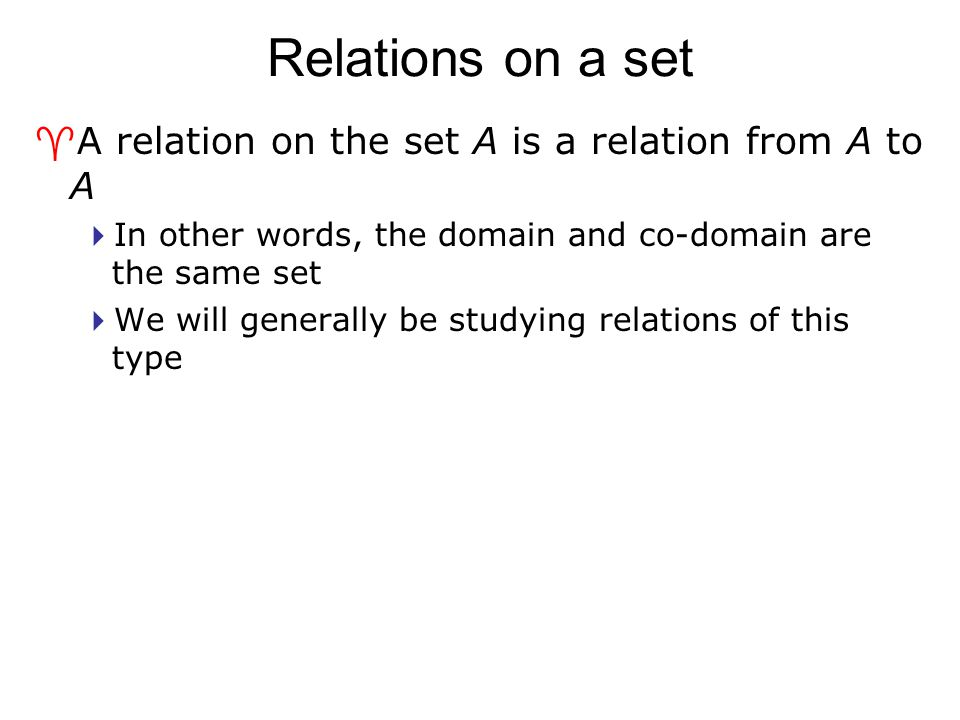 Combining relations ^There are two ways to combine relations R 1 and R 2  Via Set operators  Via relation composition