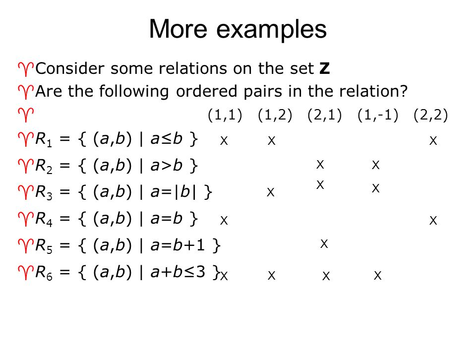 Combining via relational composition ^Similar to function composition ^Let R be a relation from A to B, and S be a relation from B to C  Let a  A, b  B, and c  C  Let (a,b)  R, and (b,c)  S  Then the composite of R and S consists of the ordered pairs (a,c)  We denote the relation by S ◦ R  Note that S comes first when writing the composition.