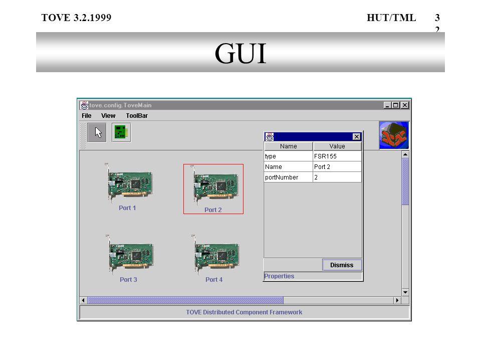 TOVE 3.2.1999HUT/TML32 GUI