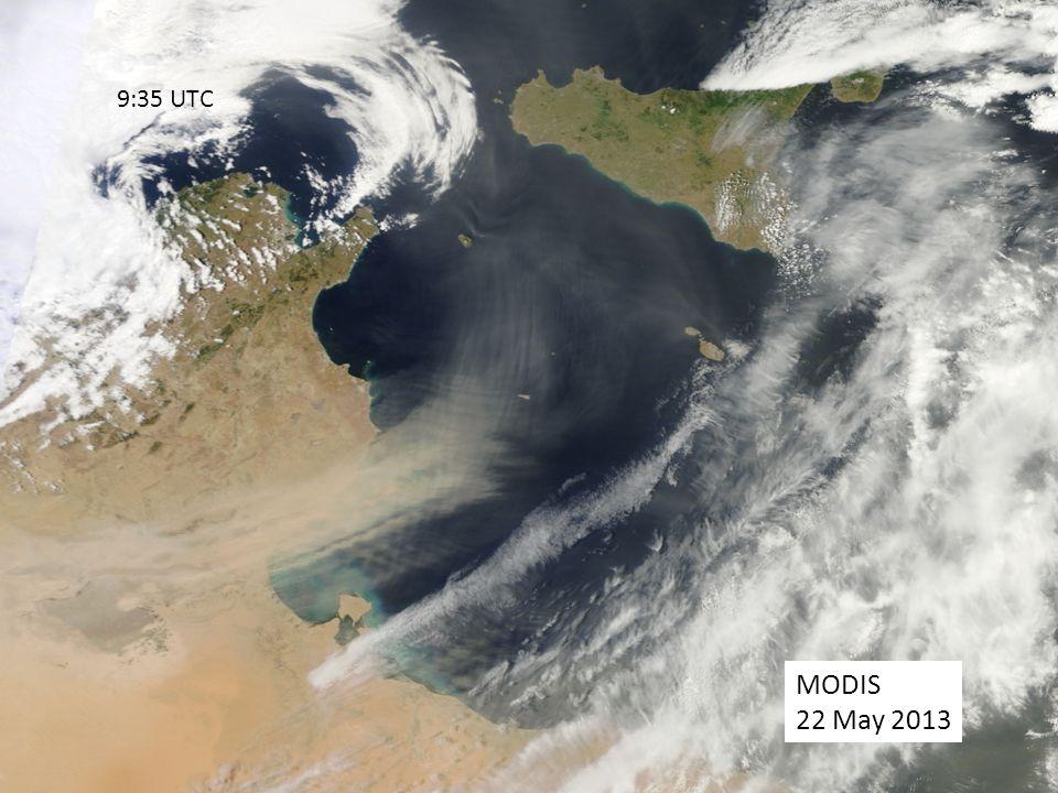 9:35 UTC MODIS 22 May 2013