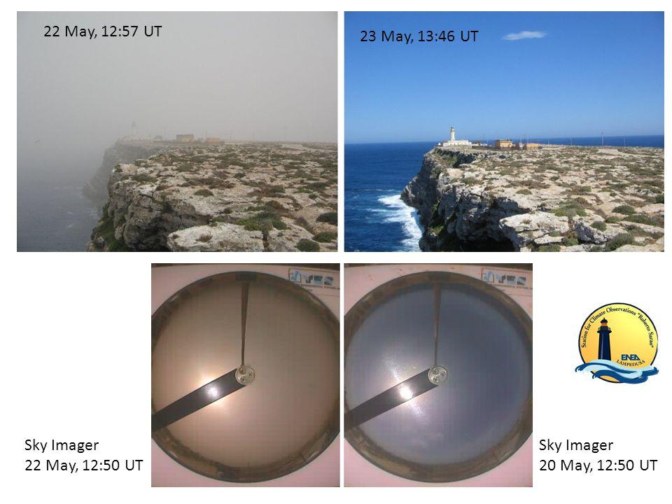 22 May, 12:57 UT 23 May, 13:46 UT Sky Imager 20 May, 12:50 UT Sky Imager 22 May, 12:50 UT