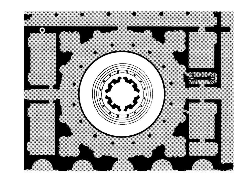 Plan of Bramante's Tempietto (after Serlio, in Regole generali di architettura)