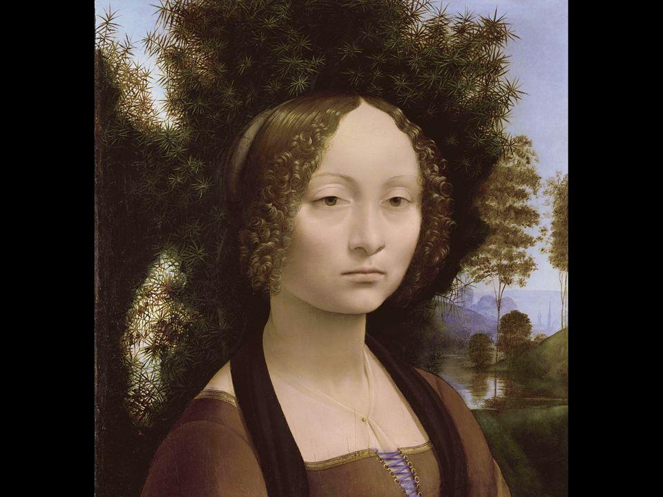 Leonardo da Vinci. Portrait of Ginevra de' Benci. ca. 1474–78