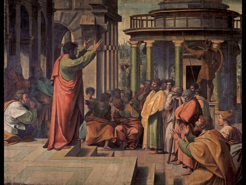 Raphael. St. Paul Preaching at Athens. 1515–16