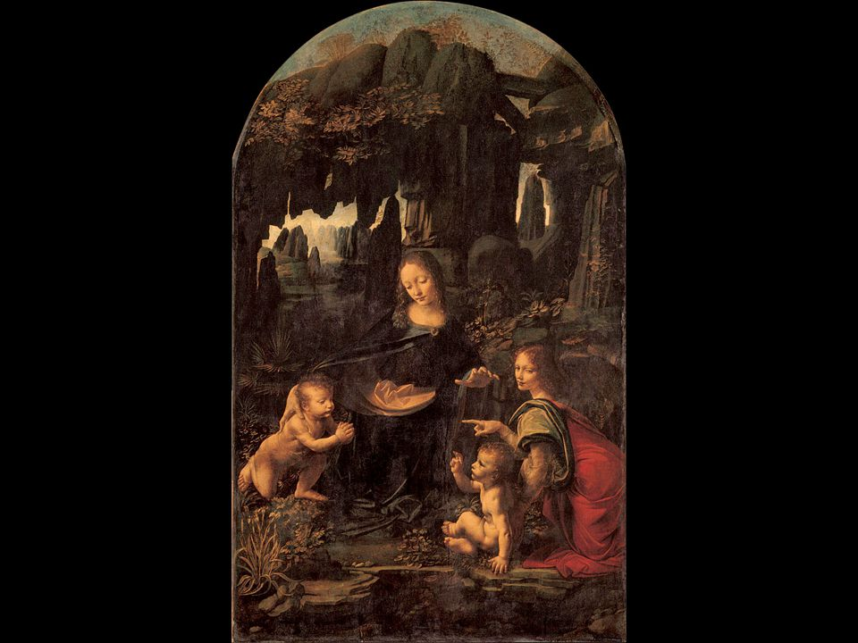 Leonardo da Vinci. The Virgin of the Rocks. ca. 1485