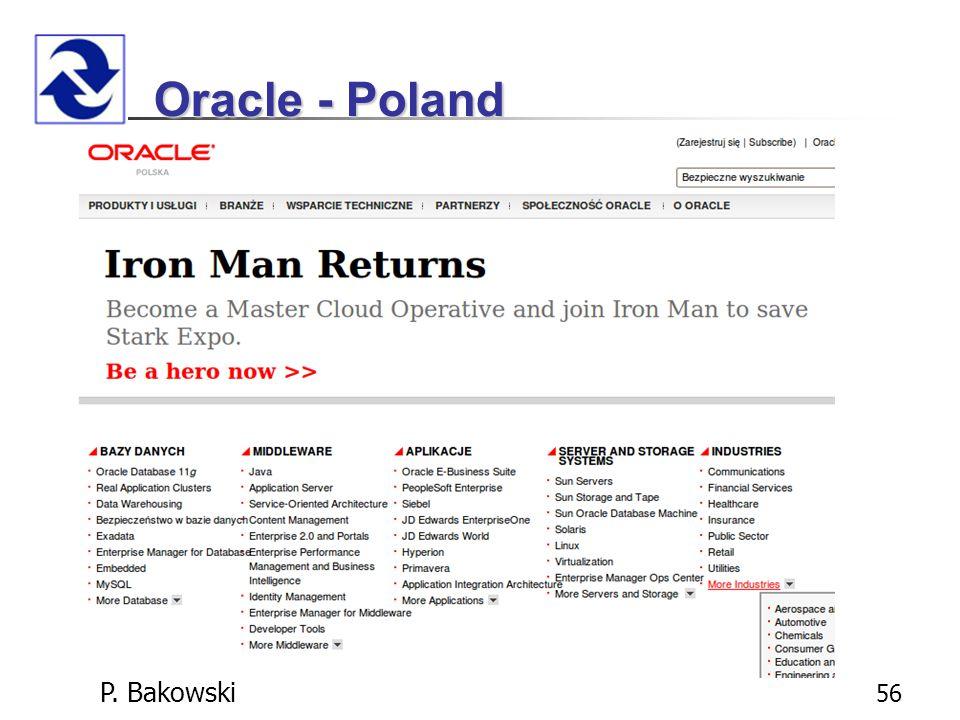 P. Bakowski 56 Oracle - Poland