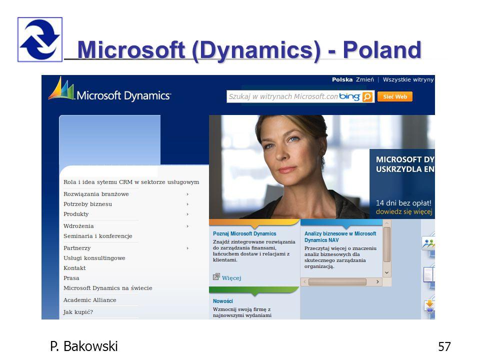 P. Bakowski 57 Microsoft (Dynamics) - Poland