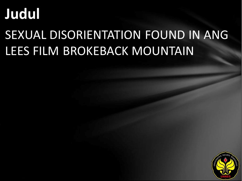 Judul SEXUAL DISORIENTATION FOUND IN ANG LEES FILM BROKEBACK MOUNTAIN