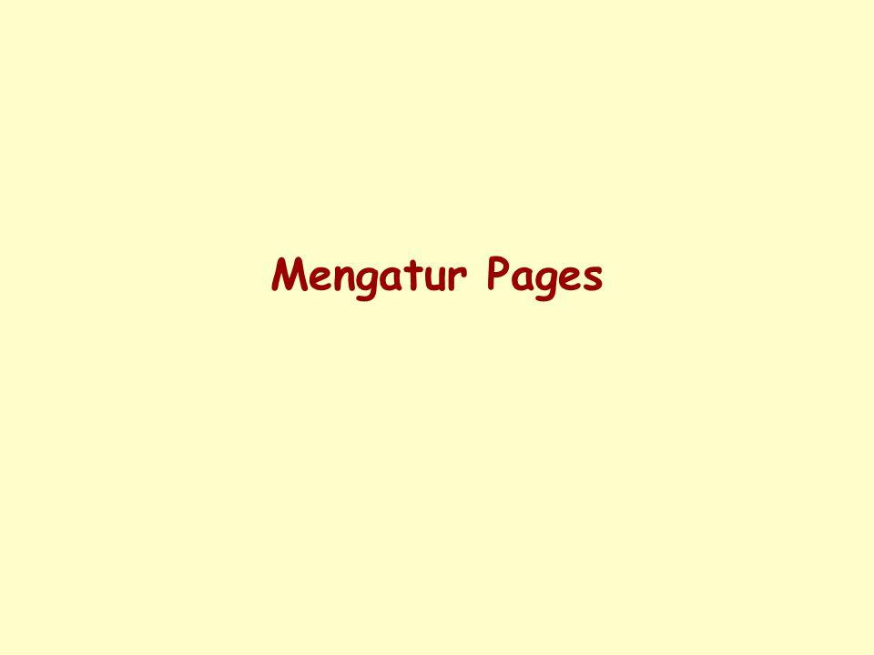 Mengatur Pages