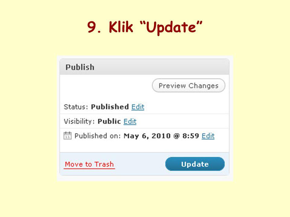 9. Klik Update