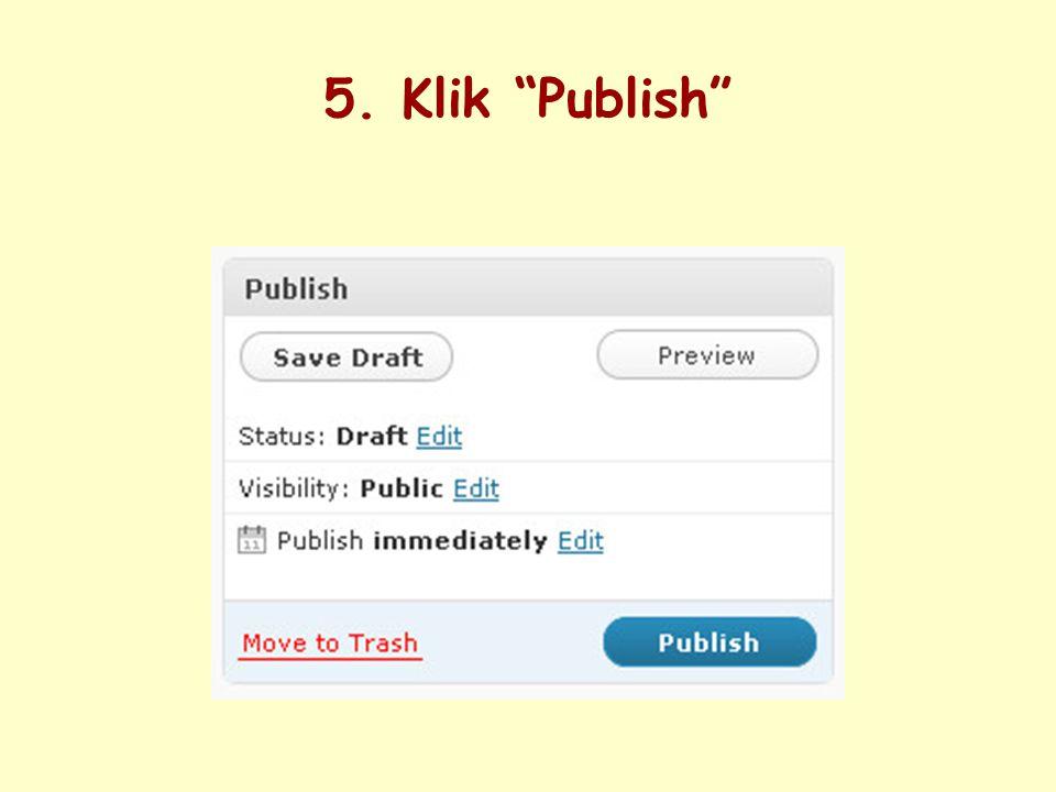 5. Klik Publish