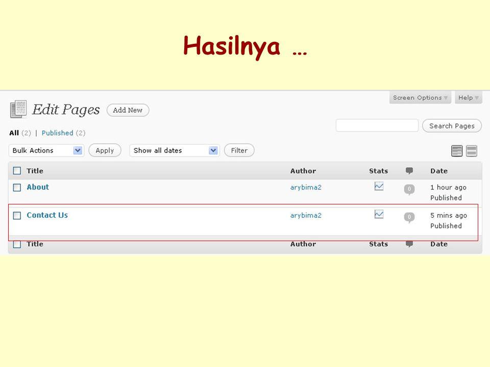 6. Pilih Pages kemudian Edit
