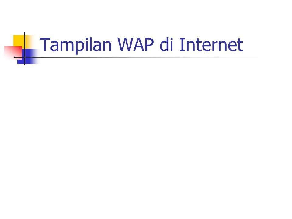 Tampilan WAP di Internet