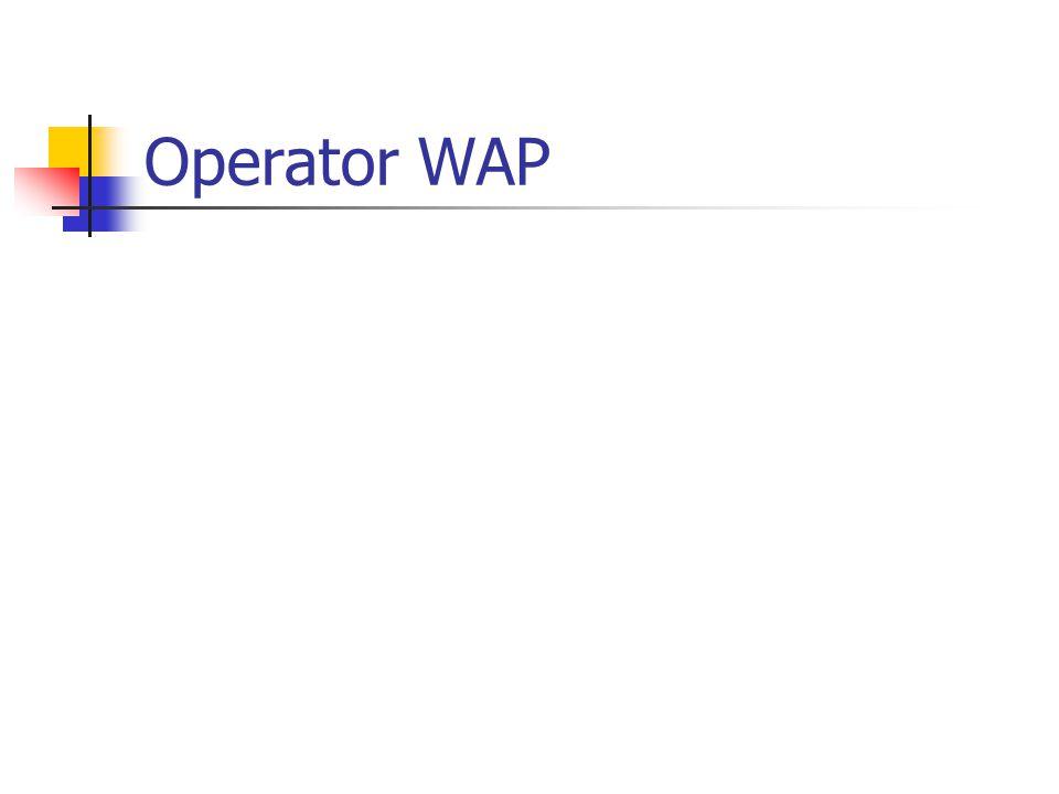 Operator WAP