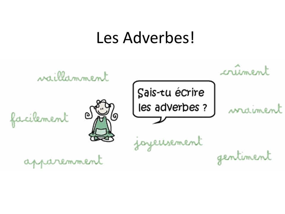Les Adverbes!
