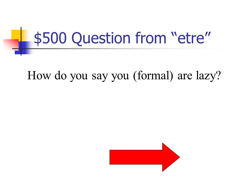 $400 Answer from etre Nous sommes sympas.