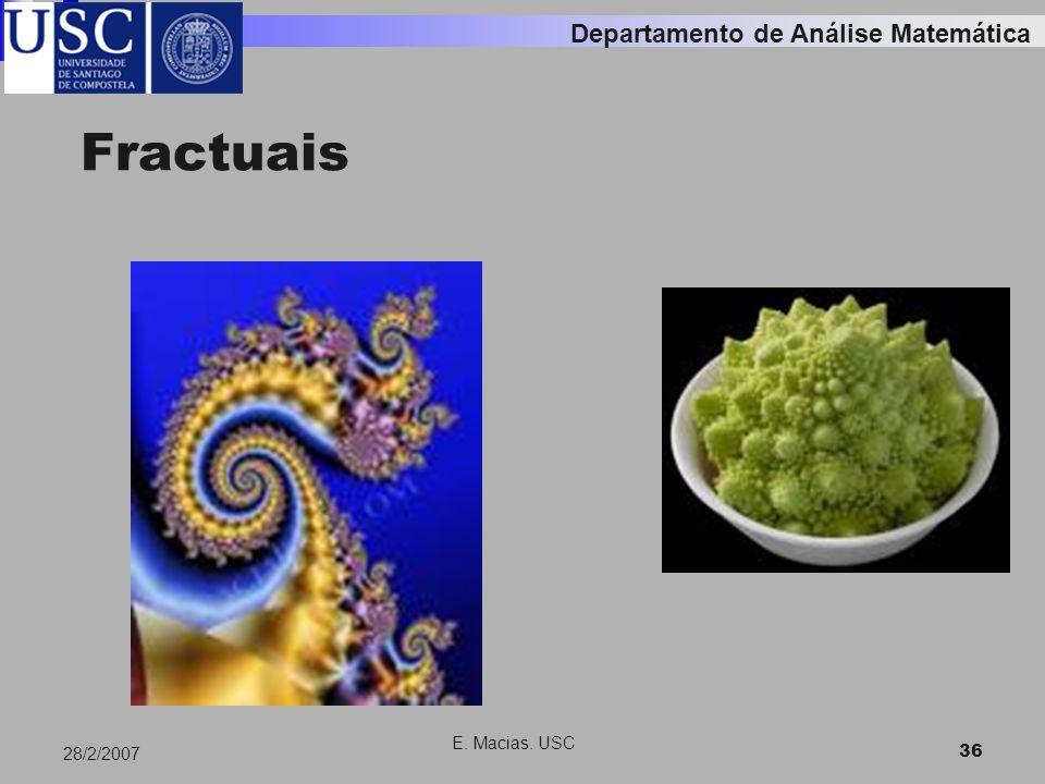 E. Macias. USC 36 28/2/2007 Fractuais Departamento de Análise Matemática