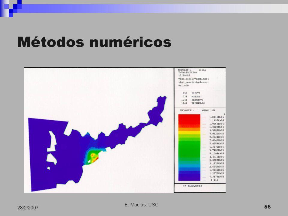 E. Macias. USC 55 28/2/2007 Métodos numéricos