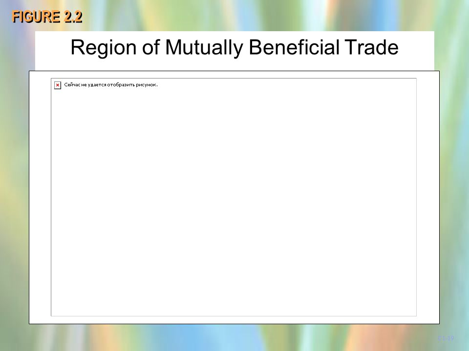 Region of Mutually Beneficial Trade FIGURE 2.2 C1-19